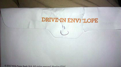 Happy drive through envelope