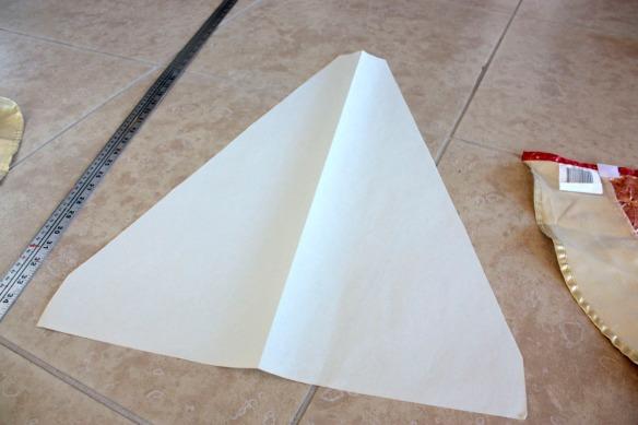 Paper stencile for tree skirt