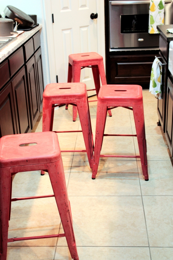 Red Tabouret Stools | The Smithocracy